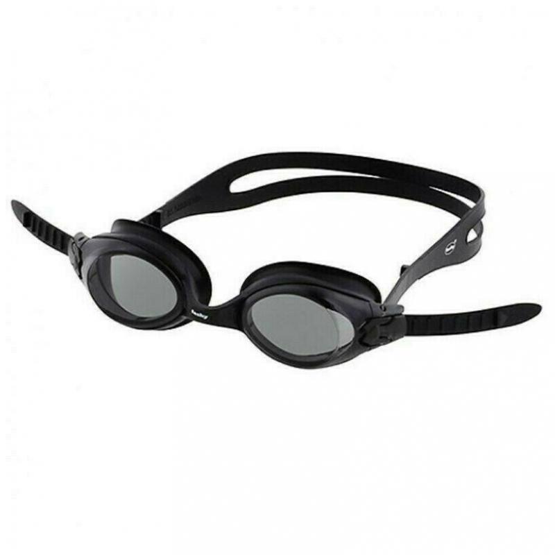 Очки для плавания  FASHY Spark II , арт.4167-20, ДЫМЧАТЫЕ линзы, нерег.перенос., черная оправа