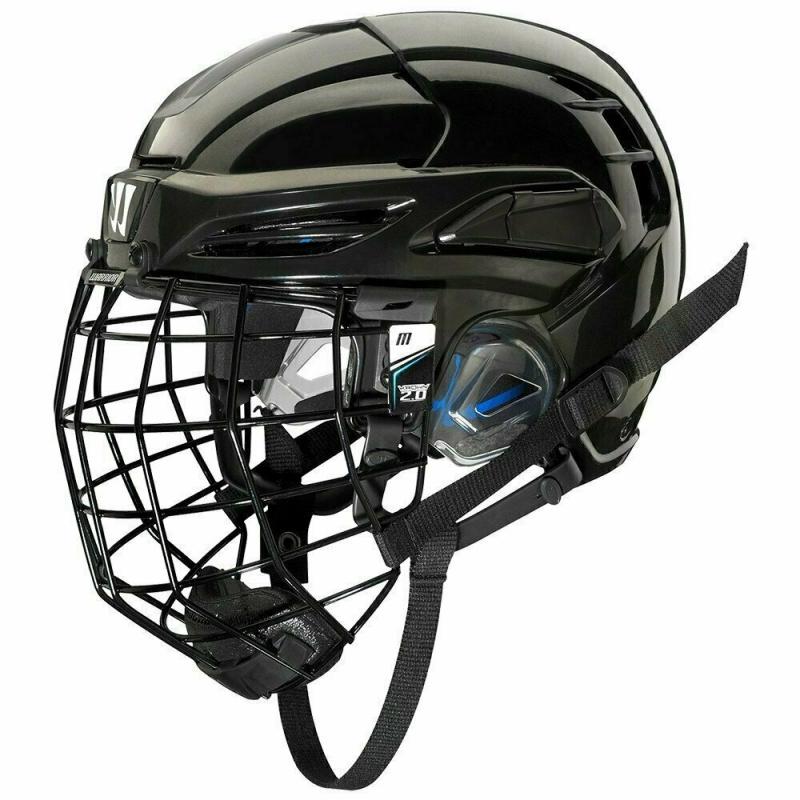 Шлем хоккейный WARRIOR COVERT PX2 COMBO SLVCage, арт. PX2HC6-BK- L, р.L, с маской, черный PX2HC6-BK-L