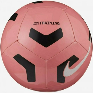 Мяч футбольный  NIKE Pitch Training , арт.CU8034-675, р.5, 12 п,гл.ТПУ, маш. сш, бут. кам, розово-черный