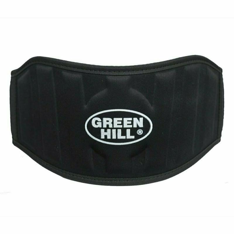 Пояс тяжелоатлетический GREEN HILL арт. WLB-6732A-M, р.M (дл. 100 см), шир. 15 см, тканый, черный