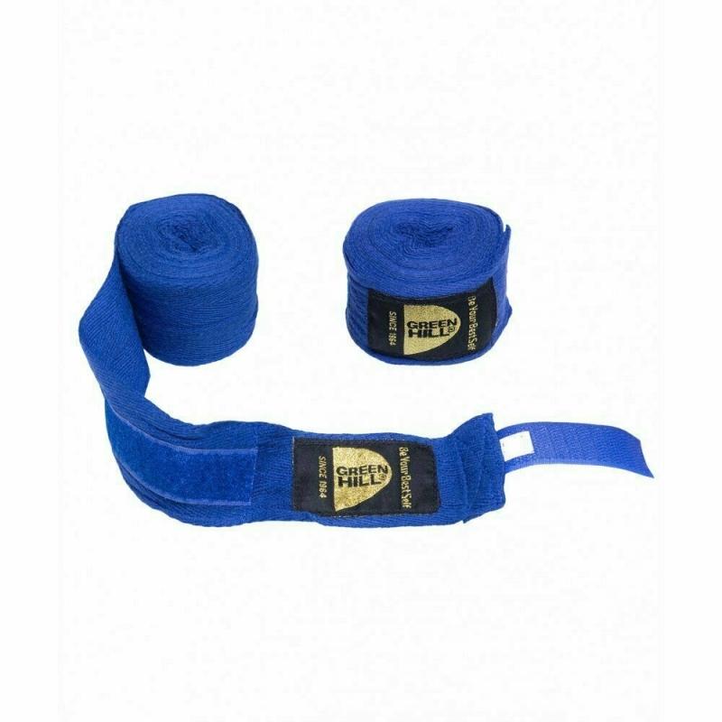Бинты боксерские GREEN HILL арт. BC-6235c-BL, дл. 3,5 м, шир., 5 см, 1 пара, хлопок, синий