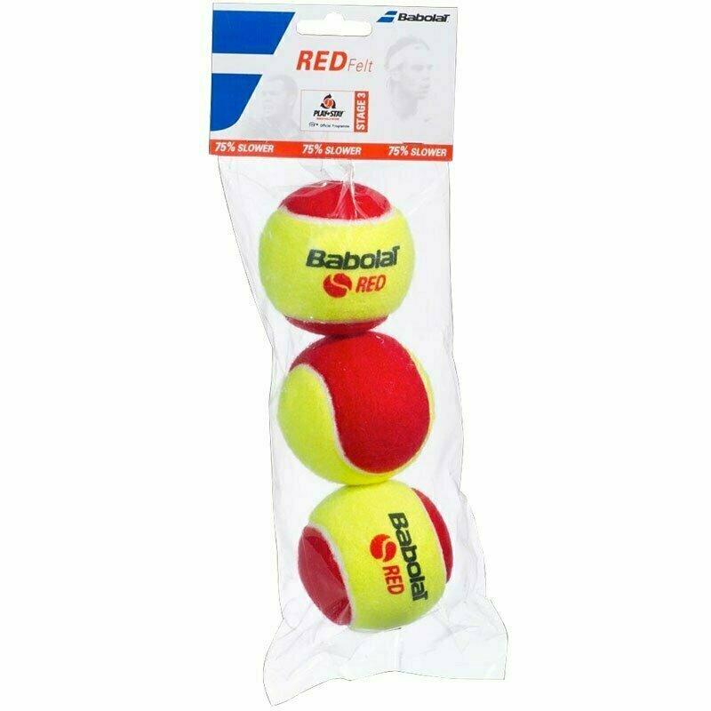 Мяч теннисный BABOLAT Red, арт.501036,уп.3 шт, войлок, шерсть, нат.резина, желто-красный