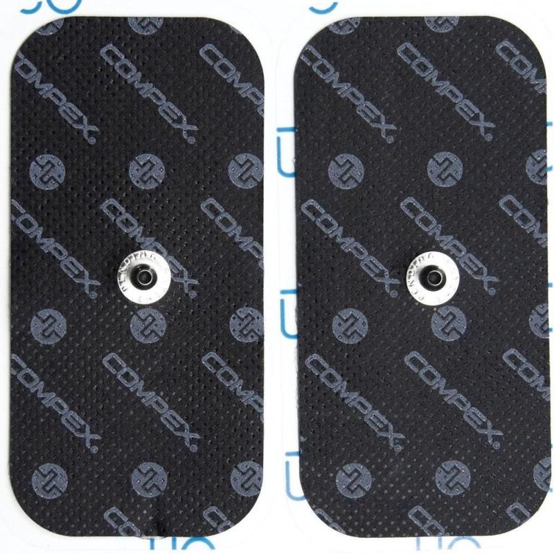 Электроды для миостимуляции COMPEX Performance Snap 5х10 см (2шт. в уп), с одной кнопкой, арт.42222