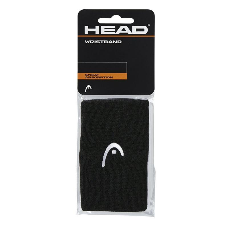 Напульсники HEAD 5 (ЧЕРНЫЕ), арт.285070-BK, ширина 12,7 см, 90% нейлон,10% эластан, пара, черный