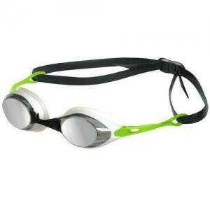 Очки для плавания  ARENA Cobra Mirror , арт.9235450, ЗЕРКАЛЬНЫЕ линзы, смен.перенос., белая оправа