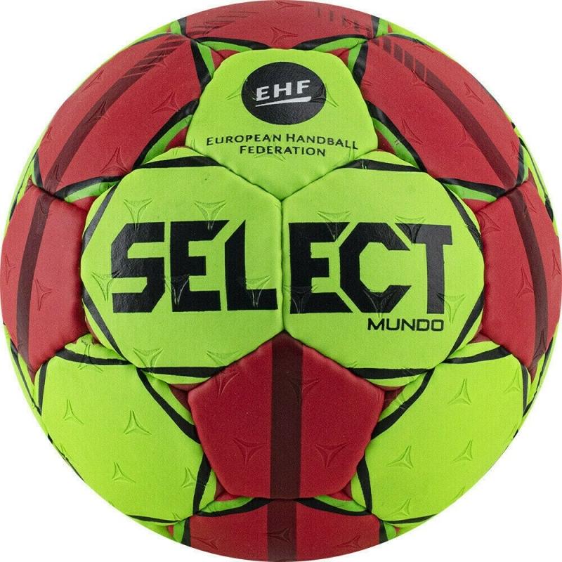Мяч гандбольный  SELECT Mundo арт. 846211-443, Lille (р.0),мат.ПУ,руч.сш, зелено-красный