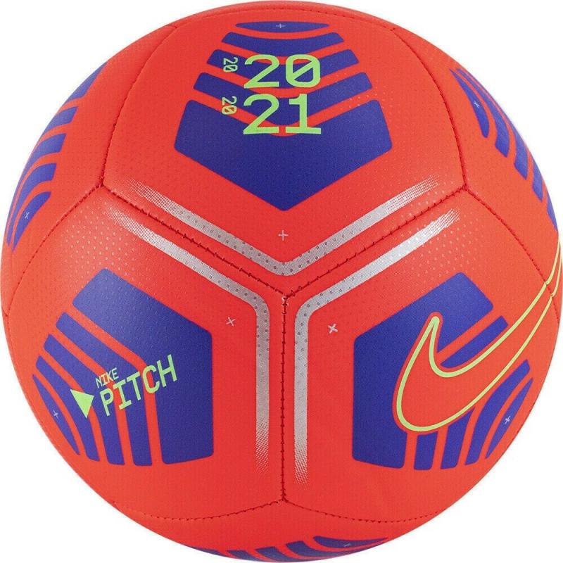 Мяч футбольный  NIKE Pitch арт.DB7964-635, р.4, 12 пан., ТПУ, маш. сш., бут. кам, красно-синий