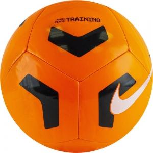 Мяч футбольный  NIKE Pitch Training , арт.CU8034-803, р.5, 12пан., ТПУ, маш.сш, бутиловая камера , оранжево-черный