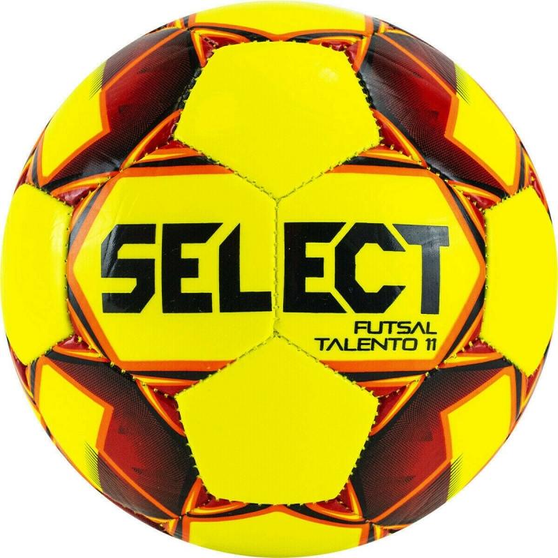 Мяч футзальный SELECT Futsal Talento 11 арт. 852616-553, р.Jr, 32пан, гл.ТПУ, маш.сш, жёлт-красн-оран