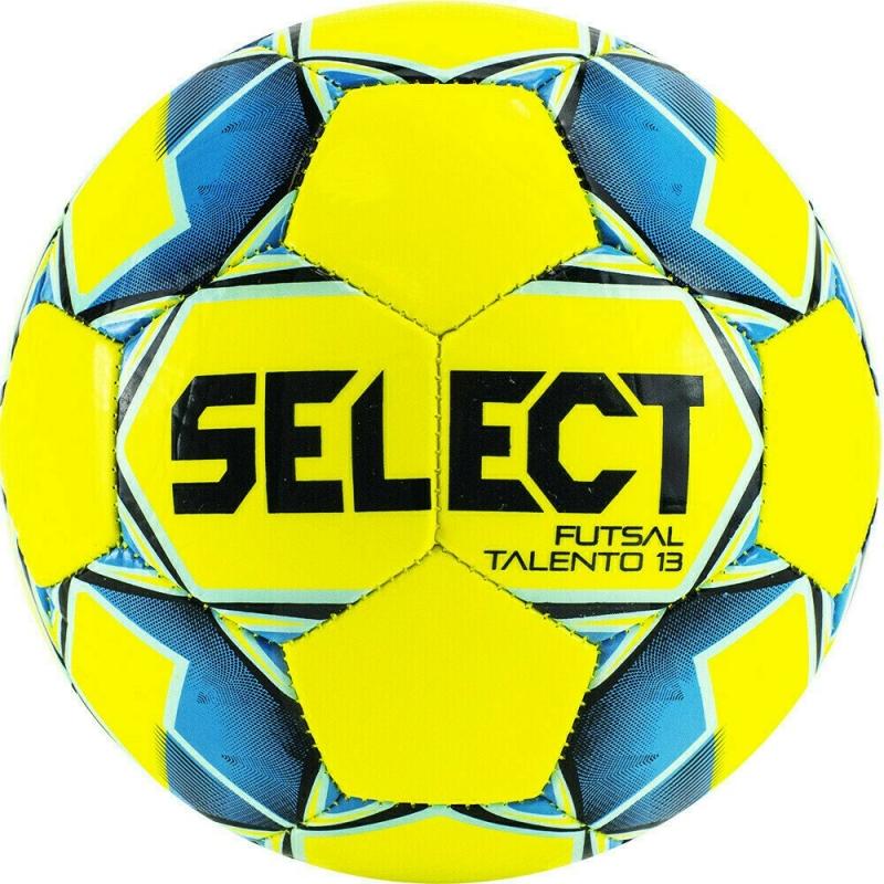 Мяч футзальный SELECT Futsal Talento 13 арт. 852617-552, р.3, 32 пан, гл.ТПУ, маш.сш, жел-син-гол-чер