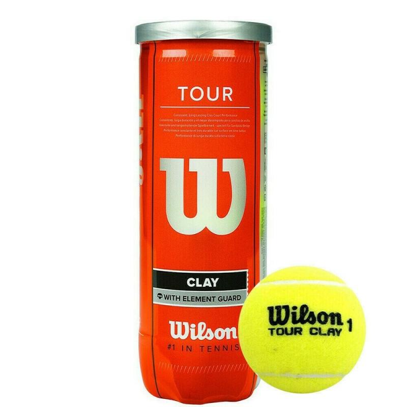 Мяч теннисный WILSON Tour Clay, арт. WRT108900,одобр.ITF и USTA,фетр,нат.резина, уп.4 шт, желтый