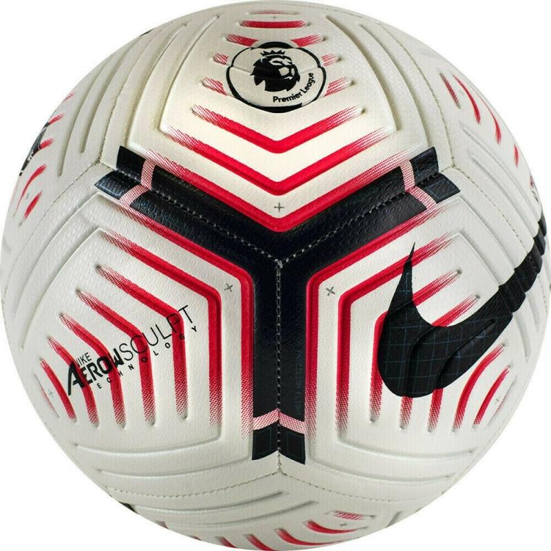 Мяч футбольный  NIKE Strike PL арт.CQ7150-100, р.5, 12п, мат.ТПУ, маш.сш, бутиловая камера , бел-чер-розов