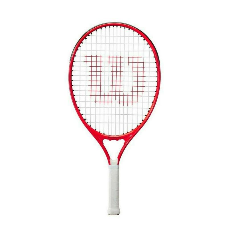Ракетка теннисная Wilson Roger Federer 23 Gr0000,арт.WR054210H,для дет.7-8 лет, алюмин.,со струн, бело-чер