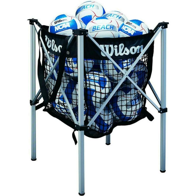 Корзина для вол. мячей Wilson, арт. WTH180400, лого Wilson, черный