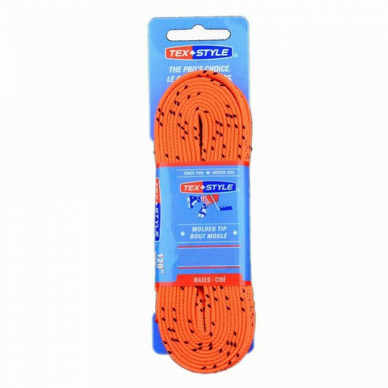 Шнурки для коньков Texstyle с пропиткой арт.1810MT-305, полиэстер, 305см, оранжевый WARRIOR