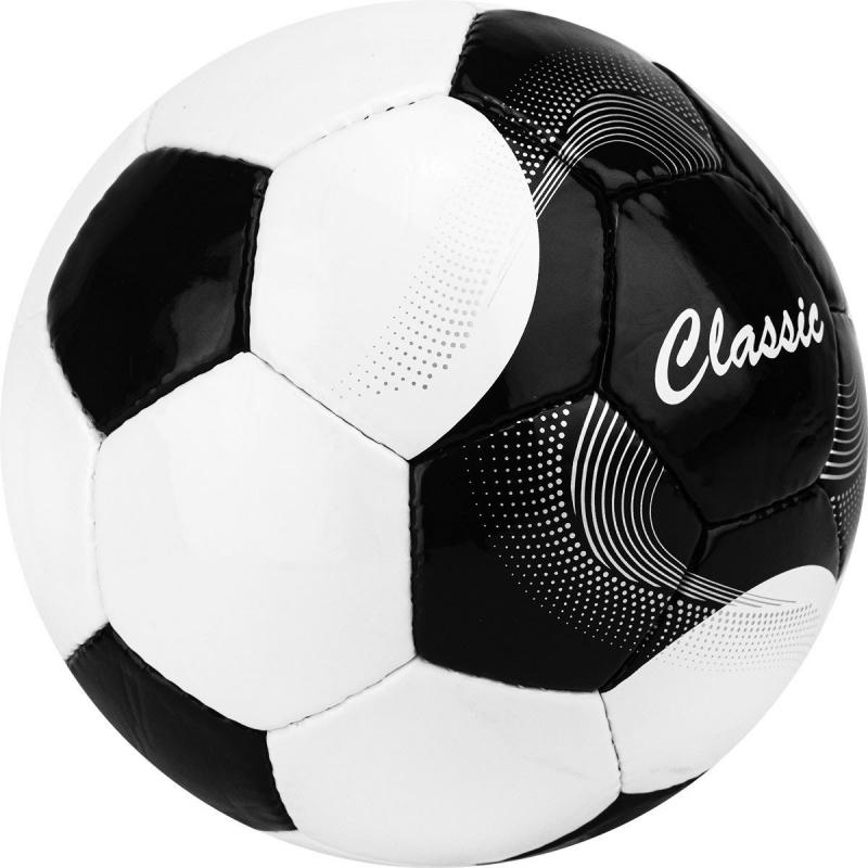 Мяч футбольный  Classic арт.F120615, р.5, 32 панели. PVC, 4 подкл. слоя, ручная сшивка, бело-черный TORRES