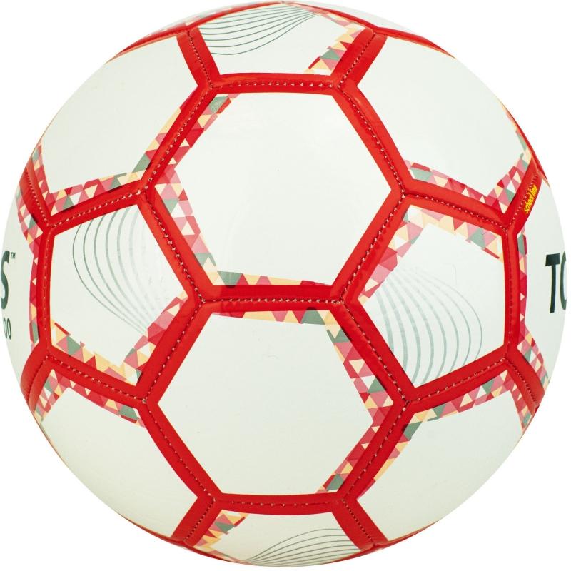 Мяч футбольный  TORRES BM 300 арт.F320743, р.3, 28 пан.,гл.TPU,2 подк. слой, маш. сш., бело-серебр-крас.
