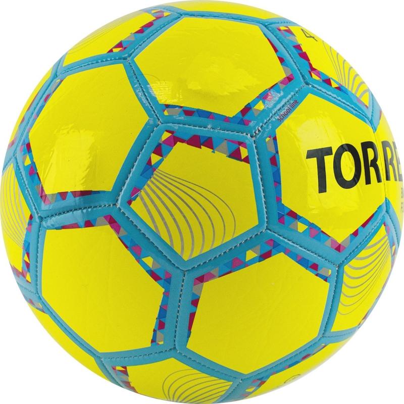 Мяч футзальный TORRES Futsal BM 200 арт.FS32054, р.4, 32 панели. TPU, 4 подкл. слоя, желтый