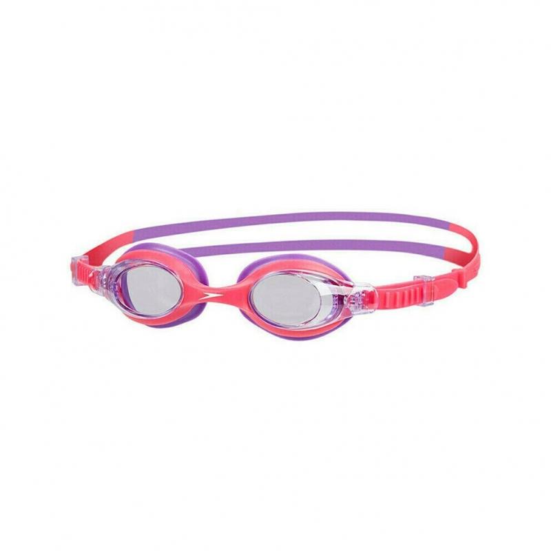 Очки для плавания детские  SPEEDO Sea Squad Skoogle Jr , арт.8-073593183A, ПРОЗРАЧНЫЕ линзы, роз. оправа