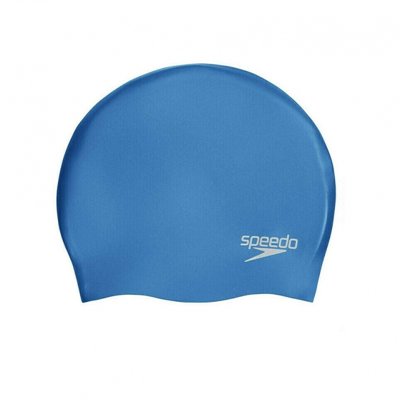 Шапочка для плавания  SPEEDO Plain Molded Silicone Cap , арт.8-70984D437, ГОЛУБОЙ, силикон