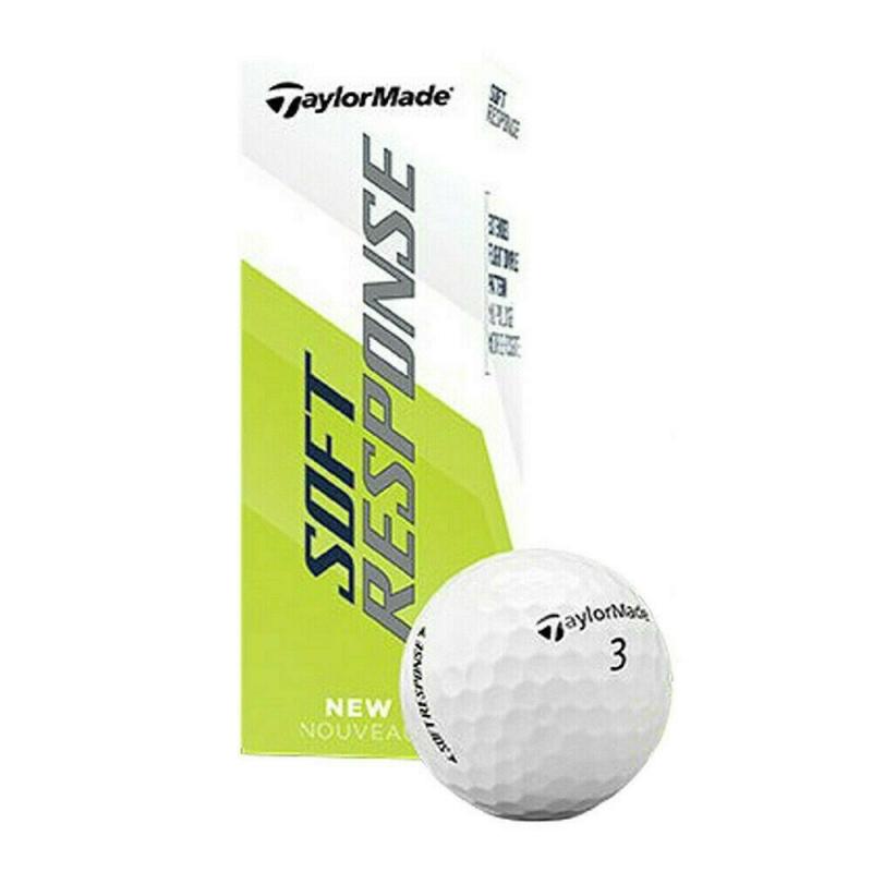Мяч для гольфа TaylorMade 20 Soft Response GLB , арт. M7178301, белый, 3шт в упак.