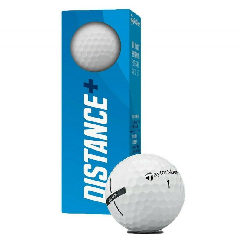 Мяч для гольфа TaylorMade Distance + , арт.N7608601, 3 шт в упак., для игры на дальн.дист., белый