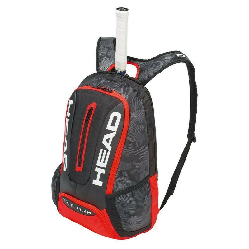 Рюкзак спортивный  HEAD Tour Team Backpack арт. 283148, с карм под 1 тен.рак, черно-красный