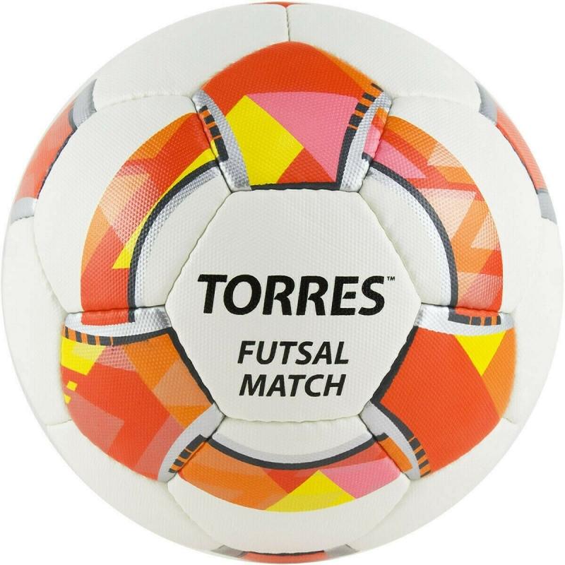 Мяч футзальный TORRES Futsal Match арт.FS32064, р.4, 32 панели. PU, 4 подкл. слоя, бело-красный