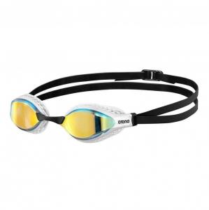 Очки для плавания  ARENA Airspeed Mirror , арт.003151202, ЗЕРКАЛЬНЫЕ линзы, смен.перенос, бел. оправа