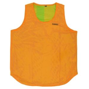 Манишка детская TORRES двухсторонняя, арт.TR12149O/G, р.Jr, тренировочная, полиэстер, оранж-зелен
