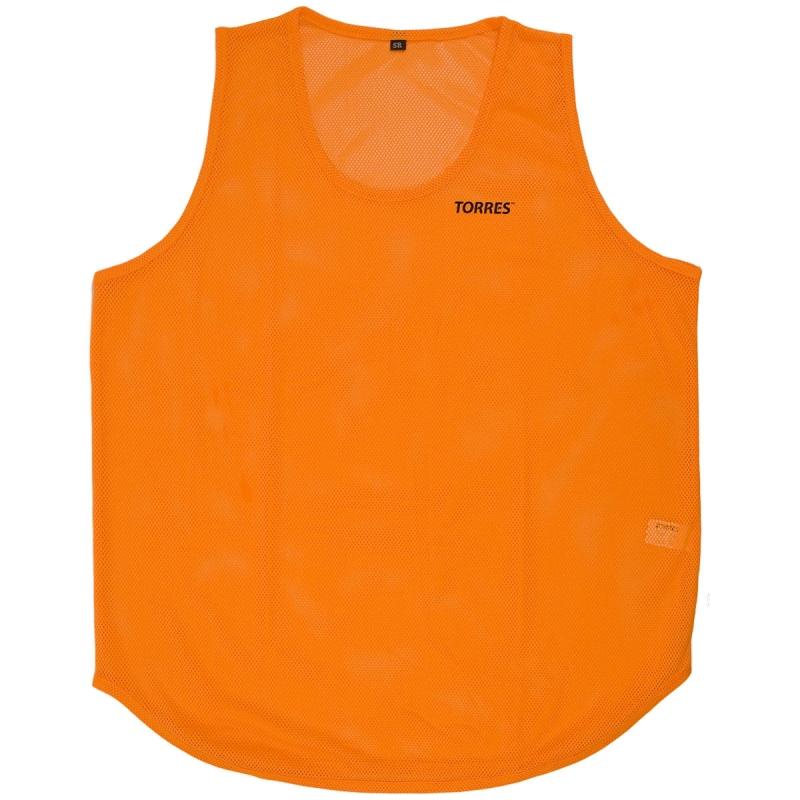 Манишка TORRES односторонняя , арт.TR12143OR, р.Sr, тренировочная, полиэстер, оранжевый