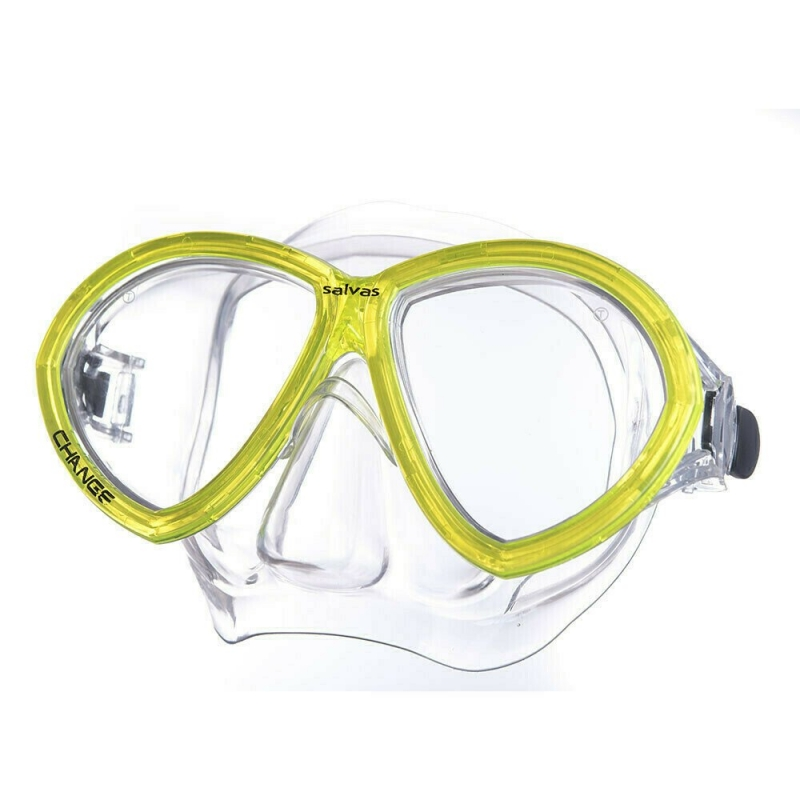 Маска для плав. Salvas Change Mask , артCA195C2TGSTH, закален.стекло, Silflex, р. Senior, желтый