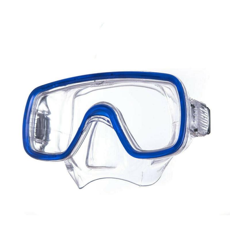 Маска для плав. Salvas Domino Md Mask , арт.CA140C1TBSTH, безопасн.стекло,Silflex, р. Medium, синий