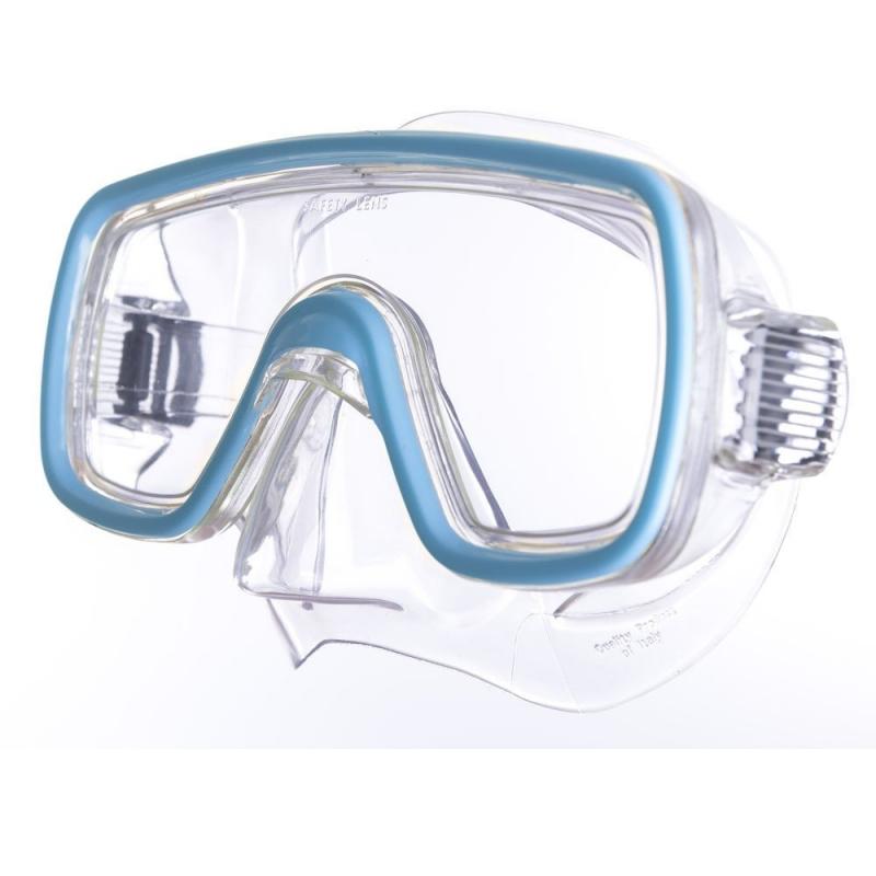 Маска для плав. Salvas Domino Md Mask , арт.CA140C1TQSTH, безопасн.стекло,Silflex, р. Medium, голуб