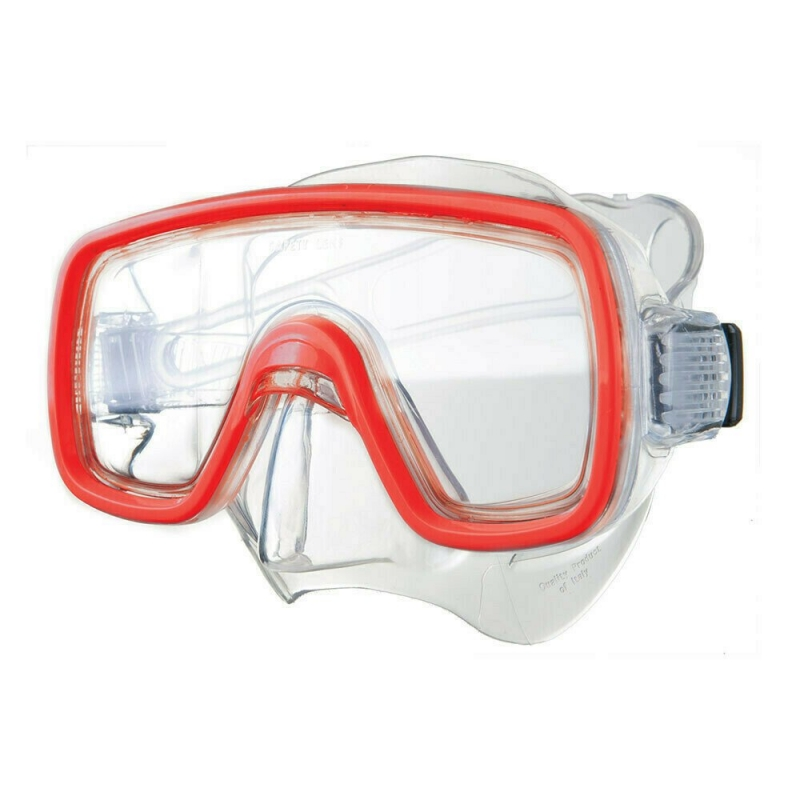 Маска для плав. Salvas Domino Md Mask , арт.CA140C1TRSTH, безопасн.стекло,Silflex, р. Medium, красн