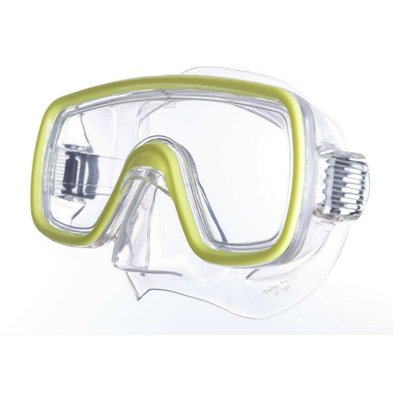 Маска для плав. Salvas Domino Sr Mask , арт.CA150C1TGSTH, закален.стекло, Silflex, р.Senior, желтый