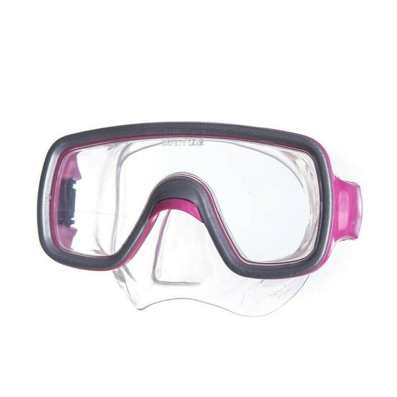 Маска для плав. Salvas Geo Jr Mask , арт.CA105S1FYSTH, безопасн.стекло, силикон, р. Junior, розовый