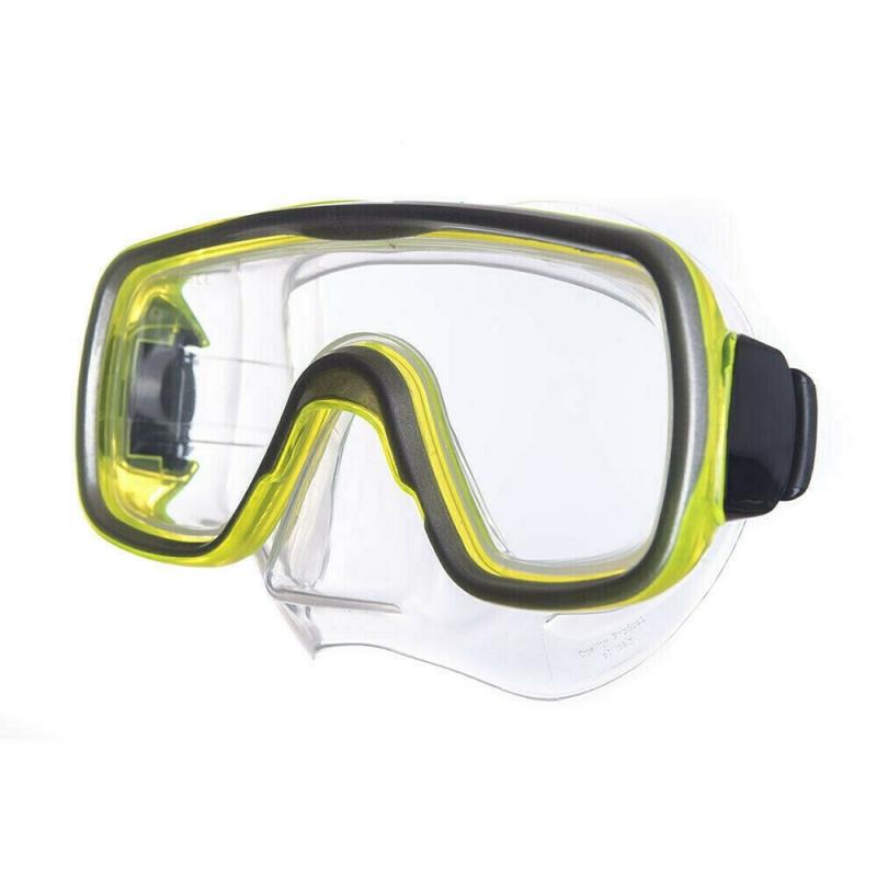 Маска для плав. Salvas Geo Jr Mask , арт.CA105S1GYSTH, безопасн.стекло, силикон, р. Junior, желтый
