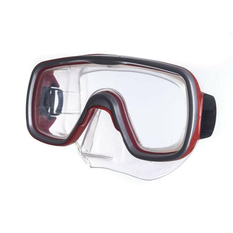 Маска для плав. Salvas Geo Jr Mask , арт.CA105S1RYSTH, безопасн.стекло, силикон, р. Junior, красный