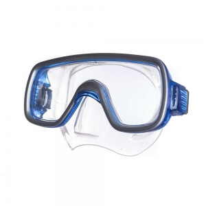 Маска для плав. Salvas Geo Md Mask , арт.CA140S1BYSTH, закален.стекло, силикон, р. Medium, синий