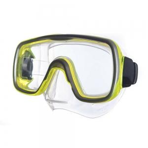 Маска для плав. Salvas Geo Md Mask , арт.CA140S1GYSTH, закален.стекло, силикон, р. Medium, желтый