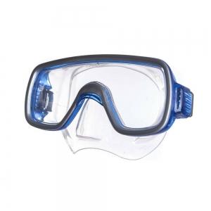 Маска для плав. Salvas Geo Sr Mask , арт.CA175S1BYSTH, закален.стекло, силикон, р. Senior, синий