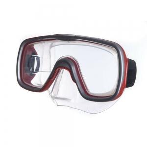 Маска для плав. Salvas Geo Sr Mask , арт.CA175S1RYSTH, закален.стекло, силикон, р. Senior, красный