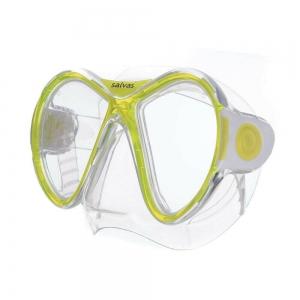 Маска для плав. Salvas Kool Mask , арт.CA550S2TGSTH, закален.стекло, силикон, р. Senior, желтый