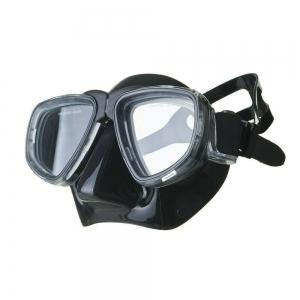 Маска для плав. Salvas Neptun Black , арт.CA515N2TNSTH, закален.стекло, силикон, р. Senior, черный