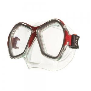 Маска для плав. Salvas Phoenix Mask , арт.CA520S2RYSTH, зак.стекло, силикон, р.Senior, сереб/красн