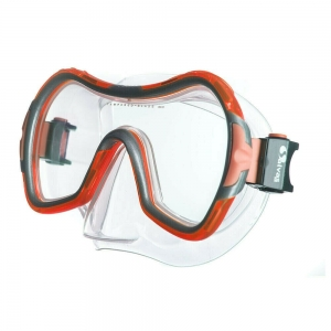 Маска для плав. Salvas Viva Sr Mask , арт.CA535S1RYSTH,закален.стекло, силикон, р.Senior, красный