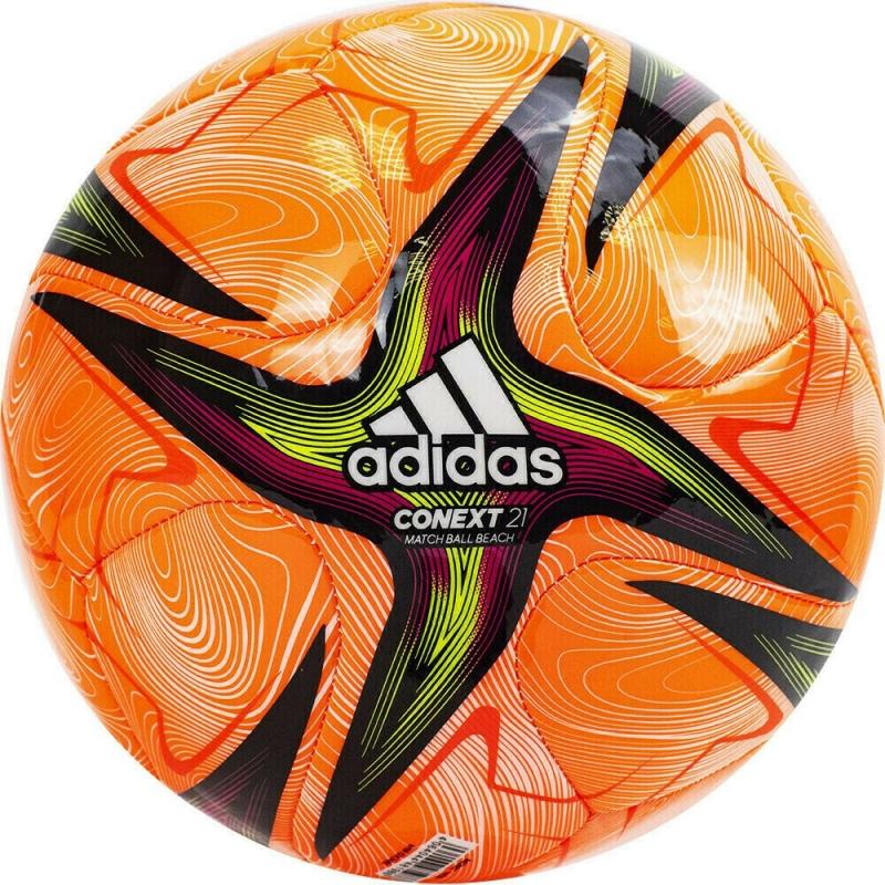 Мяч для пляж. футб. ADIDAS Conext 21 Pro Beach , арт.GK3485, р.5,FIFA Pro, 4пан,ТПУ, маш.сш, оранж