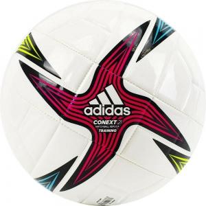 Мяч футбольный  ADIDAS Conext 21 Training арт.GK3491,р.5, 8 панелей, гл.ТПУ, маш.сш, бело-мультикол