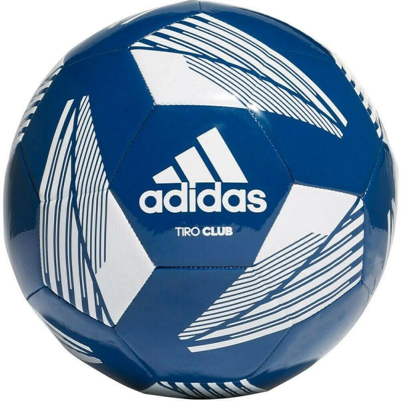 Мяч футбольный  ADIDAS Tiro Club арт. FS0365, р.5, ТПУ, 12 пан., машинная сшивка , бело-синий